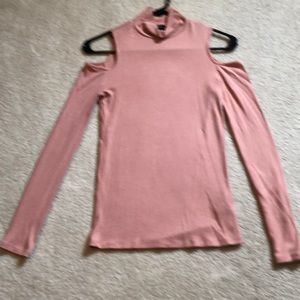 Forever 21 Coral Size S Turtleneck Long Sleeve Top